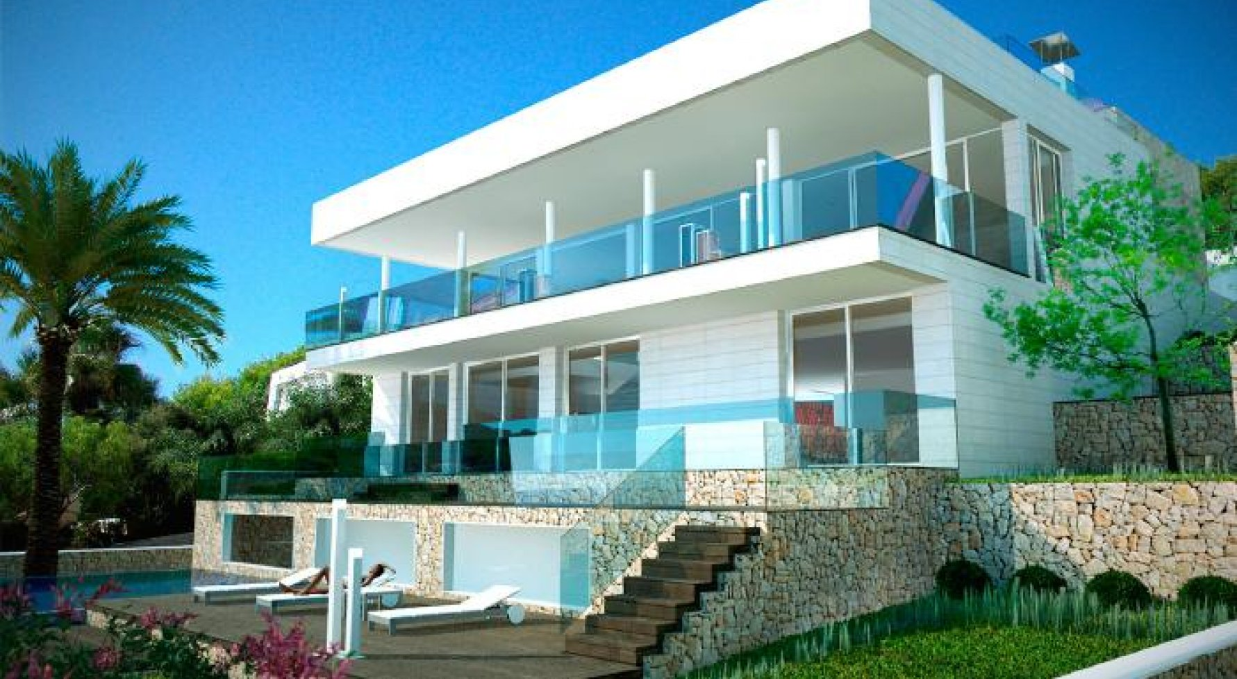 "Property in 07589  Provensals: Mallorca: Modern villa with ""Panoramic sea view"" - picture 1"