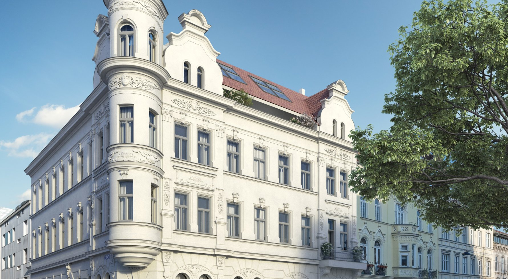 Property in 1180 Wien, 18. Bezirk: Top floor apartment in a renovated Wilhelminian style house in the best location - picture 1