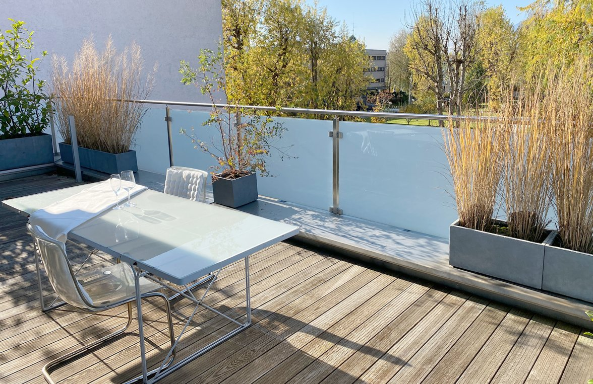 Property in 5020 Salzburg - Elisabeth-Vorstadt: Place in the sun! Loft-style penthouse with lots of light and privacy - picture 1