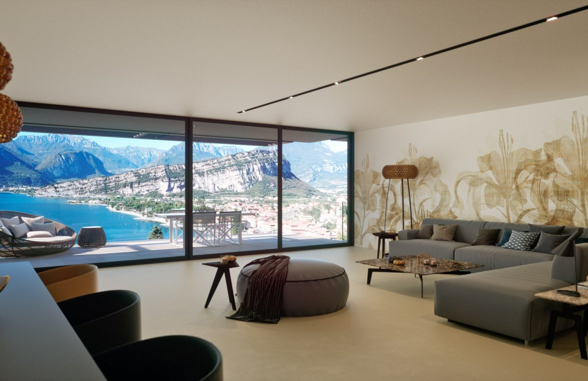 Property in 38069 Torbole sul Garda: Who needs curtains on such a view? Lifestyle with large terrace - picture 1