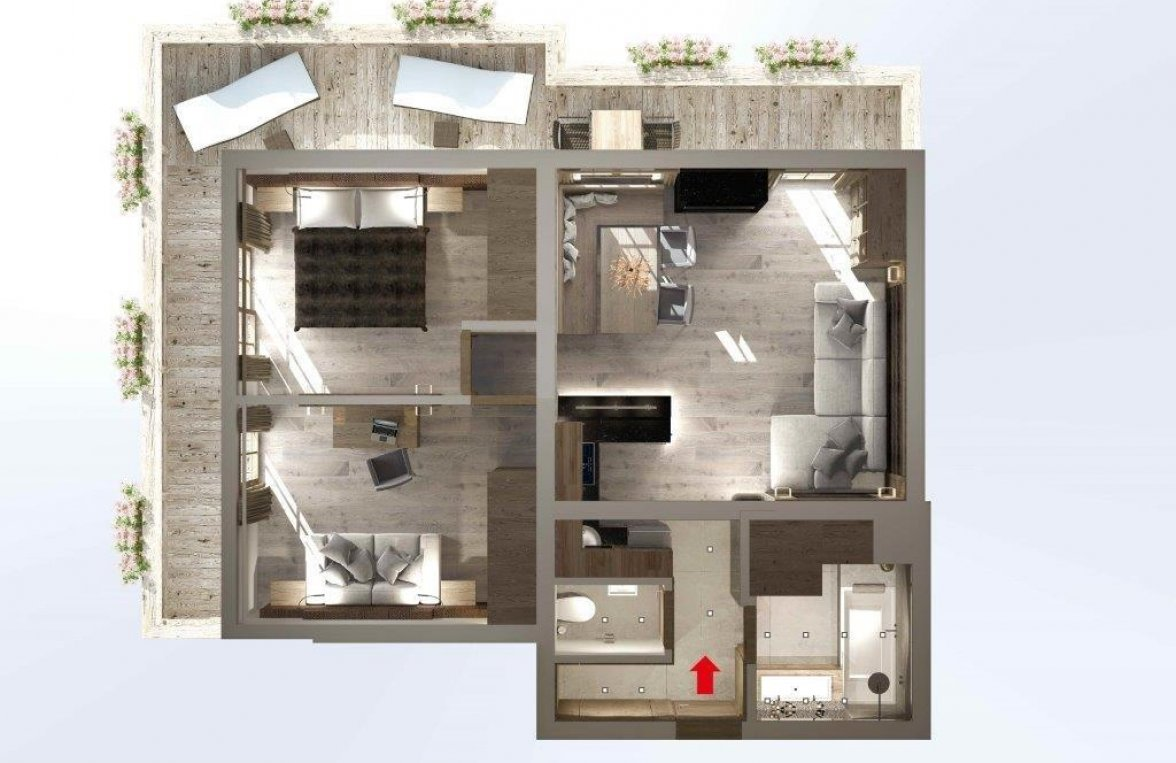 Property in 6370 Kitzbühel: Stylishly arranged, 3-room city apartment with lift and balcony - picture 6