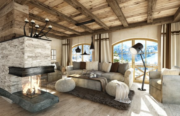 Property in 5731 Hollersbach: Hollersbach: exclusive holiday chalet with designer furnishings