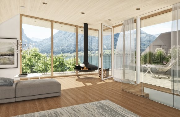 Property in 5360 Direkt am Wolfgangsee - St. Wolfgang: Detox for the soul! Maisonette with a unique view of Lake Wolfgang and private acc