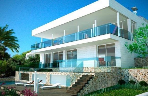 "Property in 07589  Provensals: Mallorca: Modern villa with ""Panoramic sea view"""