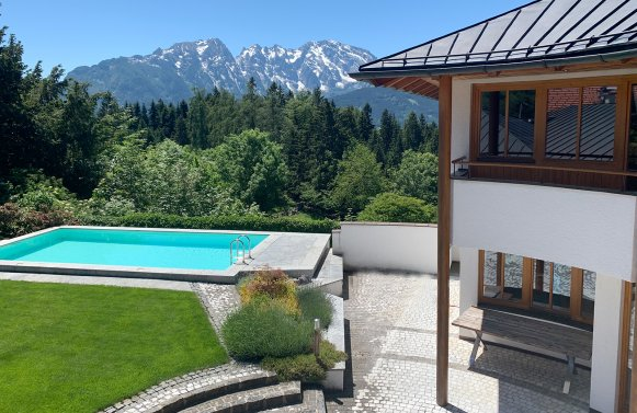 Property in 5423 St. Koloman - im Süden von Salzburg: Uplifting in a panoramic position! Architect's villa with 360° view