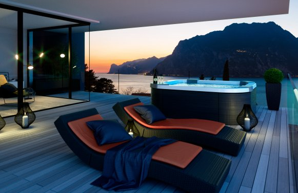 Property in 38069 Torbole sul Garda: Irretrievable new construction project with lake view! Relaxation oasis on Lake Ga