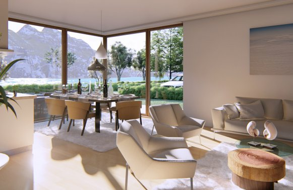 Property in 5311 Innerschwand am Mondsee: Lakeside Living on Lake MONDSEE! Newly built garden apartments with bathing area