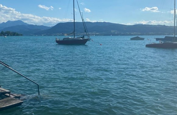 Property in 4852 Ostufer am Attersee: Holiday flair directly at the Attersee! Living- & Lakehouse