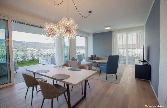 Property in 9082 Maria Wörth / Wörthersee: WÖRTHERSEE: Garden apartment with optimal layout on the popular south bank!