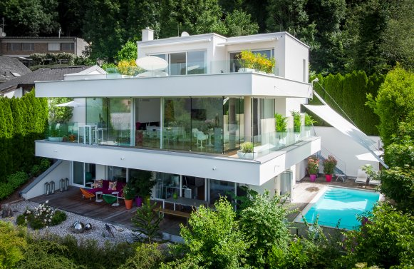 Property in 5020 Salzburg - Aigen: LOGENPLATZ in Salzburg! Purism & Elegance - Hideaway with an exquisite view