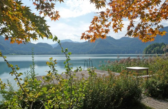 Property in 5311 Innerschwand am Mondsee: Lakeside Living on Lake MONDSEE! New penthouses with bathing area and lake access