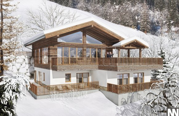 Property in 5505 Mühlbach am Hochkönig: All set for winter! Newly built chalet with potential for use as tourist facilitie