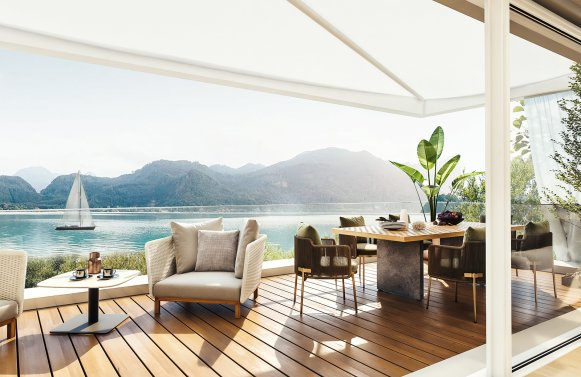 Property in 5310  St.Lorenz direkt am Mondsee: Place in the sun at Lake Mondsee! New corner house with private bathing area