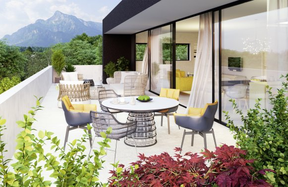 Property in 5020 Salzburg: QUIET, GREEN, LIVELY! Here you purchase living in a class of its own!