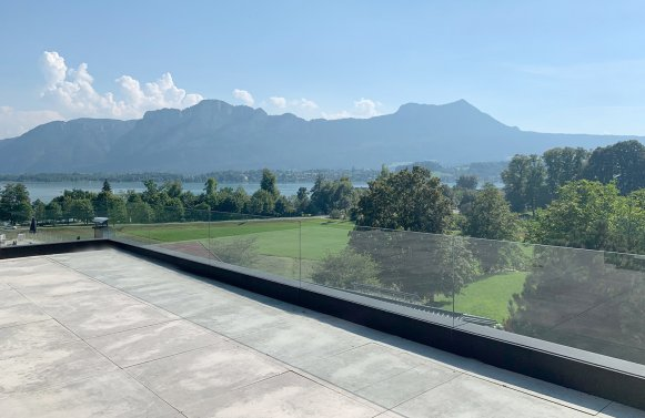 Property in 5310 Mondsee - Salzkammergut: Luxury chalet with lake view pool terrace