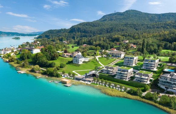 Property in 9082 Maria Wörth: WÖRTHERSEE: Garden apartment with optimal layout on the popular south bank!